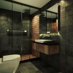 DIY Country Bathroom Decor Ideas Perhaps you think of home improvement work and think that such projects are beyond your capabilities. Dark Bathrooms, Chic Bathrooms, Dream Bathrooms, Amazing Bathrooms, Small Bathroom, Best Bathroom Designs, Bathroom Design Luxury, Home Interior Design, Bathroom Layout