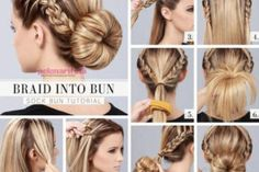 Bun hairstyles tutorials-My mom irritates the only thing in me; not to properly comb the hair. Whenever I comb in a hurry and make a bun of my hair, she do Super Easy Hairstyles, Braided Hairstyles Tutorials, Crown Hairstyles, Pretty Hairstyles, Hair Tutorials, Formal Hairstyles, Long Hair Cuts, Long Hair Styles, Hair Beauty
