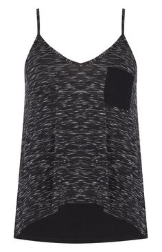Primark - Top de alças tingido preto