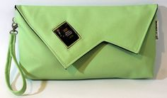 Handmade green clutch bag with James Dean movie by meerrorart
