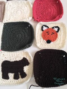 LINK TO WOODLAND CREATURES AFGHAN WEBSITE. EACH ANIMAL SQUARE IS SEPARATE.