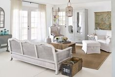You can't go wrong with this bright and sunny white living room.
