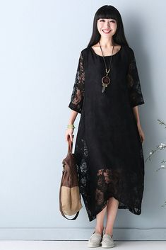 dad0553ba51 Summer National Lace Long Dress For Women Q1653 Plus Size Lace Dress