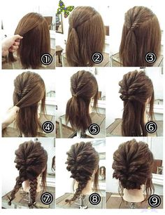 Valentine's Day Hairstyles, Easy Work Hairstyles, High Bun Hairstyles, Cute Natural Hairstyles, Braided Hairstyles For Wedding, Short Wedding Hair, Wedding Hair Down, Cute Hairstyles For Short Hair, Natural Hair Styles