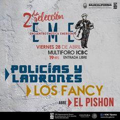 Policías y Ladrones Los Fancy y El pishon este VIERNES 28 en el Multiforo del ICBC Tijuana.  Para todas las edades / #GRATIS