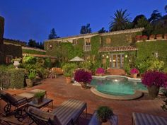 The kirkeby mansion bel air ca aka the beverly hillbillies mansion the beverly for Beverly hillbillies swimming pool