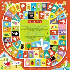 Preschool Board Games, Preschool Activities, Mazes For Kids, Art For Kids, French Flashcards, Outdoor Party Games, Board Game Design, Class Games, Graphic Design Pattern