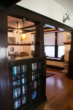 Natalie & Nate's Rustic St. Louis Collaboration - I ❤️ built in shelves!
