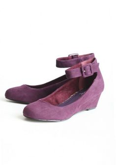 I'm not so big on stilettos. These Mary Jane wedges in my favorite color might just fill a fashionable shoe void.