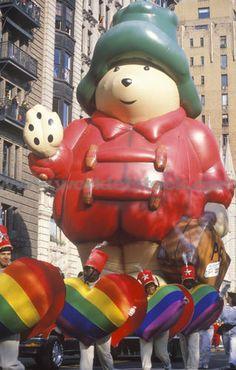 macys thanksgiving day parade balloons | Stock Photo of Paddington Bear Balloon, In Macys Thanksgiving Day Parade ...