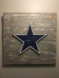 Dallas Cowboys Wood Sign Hand Made by barndoorstudios on Etsy Dallas Cowboys Room, Cowboy Crafts, How Bout Them Cowboys, American Flag Wood, Pallet Art, Diy Arts And Crafts, Wood Art, Wood Signs, 3 D
