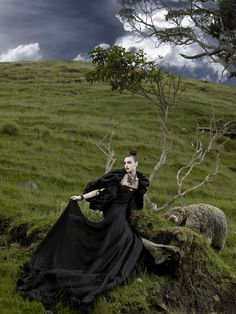 Raina: Cycle 14; Photo Shoot 8 - Posing in Couture Gowns with Sheep - ANTMworld