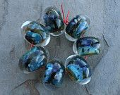 StoneyMarie Set of 7 Handmade Boro Borosilicate Lampwork Glass Beads