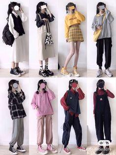 Korean Girl Fashion, Korean Fashion Trends, Korean Street Fashion, Ulzzang Fashion, Korea Fashion, Harajuku Fashion, Cute Fashion, Asian Fashion, Look Fashion