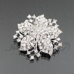 Rhinestone Flower Fashion Brooch