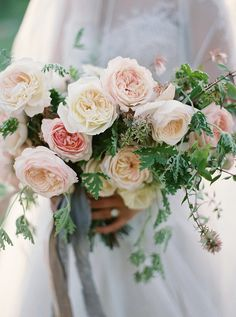A beautiful bouquet of garden roses.