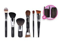 Set de brochas para rostro - 6 unidades 149,00 €  Prepárate para hacer frente al nuevo día con el set completo de brochas y pinceles para el rostro, que incluye el brocha del corrector, brocha para base, brocha de polvo, brocha de colorete y brocha de maquillaje líquido #spain #spanish #younique #espanol #barcelona #madrid #valencia #gerona #granada #maquillaje #belleza
