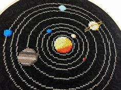 https://flic.kr/p/nDwZEC   Solar System Cross Stitch   Solar system cross stitch on cotton with water soluble canvas. You can read more at Hugs are Fun