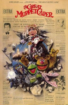 The Great Muppet Caper - I was just talking about this today.  I was watching this as a kid when our tv quit working in the middle of it...I was so sad.