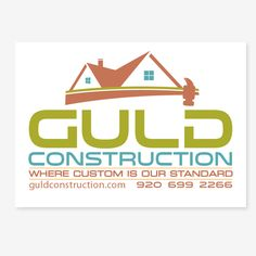 Guld Construction, LLC - Create a winning design updating a logo for a distinctive custom home building company. Home Building Companies, Construction Logo, Custom Homes, Building A House, Logos, Create, Graphics, Design, Building Logo