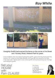 Graffiti removed from Iris Street Holland Park West