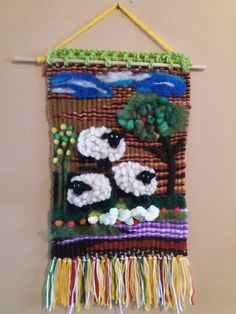 Rug Loom, Tapestry Weaving, Textile Art, Needle Felting, Fiber Art, Dream Catcher, Art Projects, Knit Crochet, Textiles
