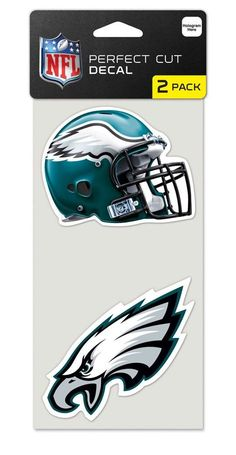 Philadelphia Eagles Set of 2 Die Cut Decals