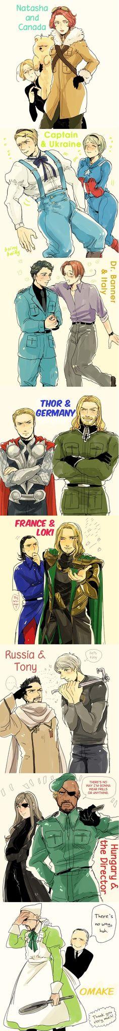 Hetalia with Marvel Characters