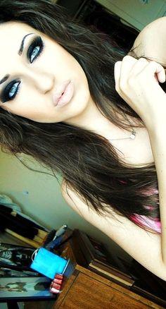 Dramatic Eyes + Nude Lip