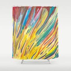Sunlight Rainbow Flower Shower Curtain Flower Shower Curtain, Rainbow Flowers, Sunlight, Curtains, Prints, Art, Art Background, Blinds, Kunst