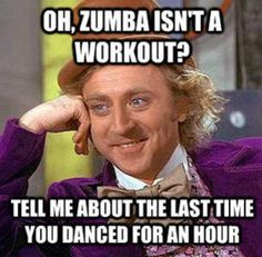 "This is so true! Just wrote a blog post about the same topic. Workout should mean ""work""."