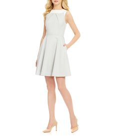 8cb392db534 Antonio Melani Margie Crew Neck Sleeveless Jacquard Dress