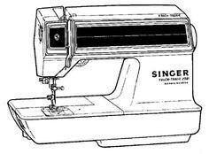Singer Athena 2000 electronic sewing machine (1975) #