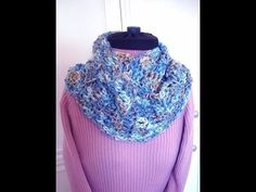 ▶ BEGINNER CROCHET INFINITY SCARF pattern, how to diy, crochet pattern video, - YouTube