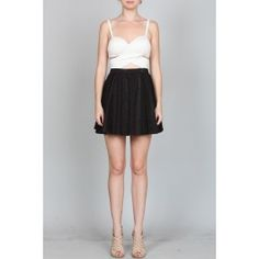 http://www.salediem.com/shop-by-size/small/cross-top-w-snakeskin-textured-skirt.html Sale Diem  #salediem #blackandwhite #fashion