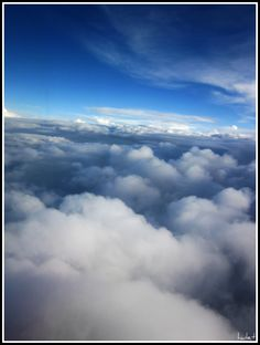 From the airplane window