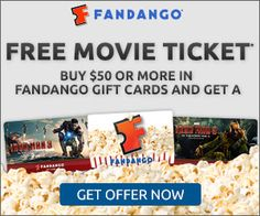 Get a FREE Movie Ticket from Fandango, here's how! With all the great summer movies coming out soon, this is a great deal!