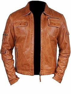 Mens Fashion Real Sheep Leather stylish Moto Jacket sleeve pockets All Size tan waxed color ALL SIZE Express Delivery Worldwide Description Lambskin/Sheep Leather one insidepocket Biker Style jacket 2 x Zipper Hand Pockets 2 x Zipper Front Chest Men's Leather Jacket, Lambskin Leather, Moto Jacket, Leather Men, Real Leather, Leather Motorcycle Jackets, Mens Leather Shirt, Biker Jackets, Men's Jackets