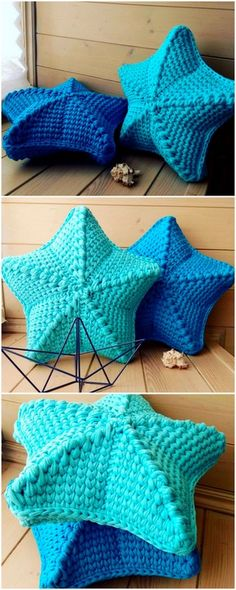 50 Top Trending Crochet Free Pattern Ideas For You And Your Home : attractive crochet cushions design Crochet Afghans, Crochet Diy, Crochet Stars, Crochet Cushions, Crochet Home, Crochet Crafts, Crochet Stitches, Crochet Projects, Crochet Ideas