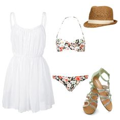 Clean and pretty entry for the Poolside fashion challenge. #fashion #contest #outfit #style
