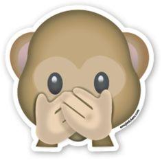 Speak No Evil Monkey   Emoji Stickers