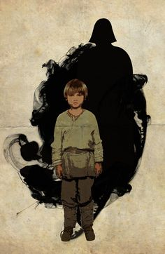 "Anakin Skywalker -- Great image to use in psychology class when teaching about ""nature vs. nurture"""