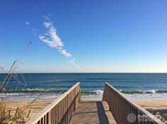 12/15/16: Crisp blue sky on Outer Banks. High 46°, Ocean 52°