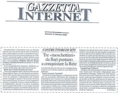 Articolo - Intervista su Gazzetta Internet