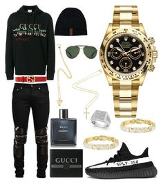 """""""Causal (Winter)"""" by pitbull8382 on Polyvore featuring Yves Saint Laurent, Gucci, adidas, Chanel, Rolex and Marco Ta Moko"""