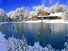 Beautiful snow scenes desktop wallpaper 1600x1200