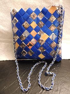 St. Louis Blues recycled paper purse by HandmadeHenke on Etsy, $40.00