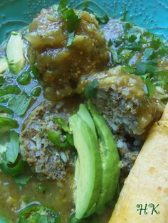 come to mind when preparing this Mexican-style beef meatball with rice ...