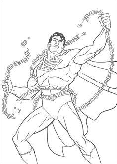Dibujos para Colorear Superman 40