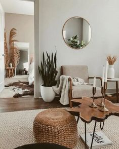 Bohemian Home - - . - Bohemian Home – – You are in - Living Room Interior, Living Room Furniture, Home Furniture, Living Room Decor, Bedroom Decor, Living Rooms, Modern Bedroom, Rustic Furniture, Mirrors In Living Room